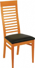 Miami Wooden Ladder Back Chair with Upholstered Seat
